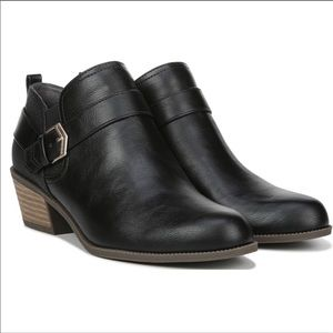 DR. SCHOLL'S Black Vegan Leather Ankle Booties 8.5